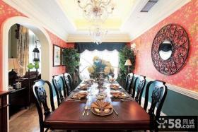 美式风格餐厅装饰效果图片