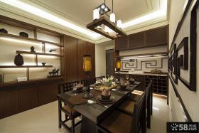 中式居家大餐厅设计图片