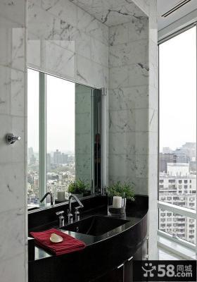 简约奢华的纽约复式卫生间设计