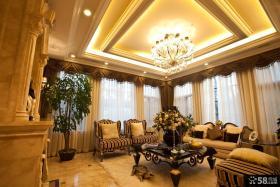 美式新古典风格四室三厅豪华客厅效果图