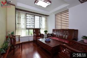 中式风格三室两厅客厅装修效果图欣赏