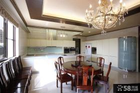 现代中式别墅餐厅室内设计图片