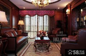 客厅真皮沙发装修效果图