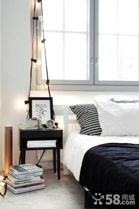 小户型简欧卧室飘窗装修效果图