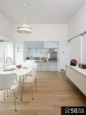 极简的白色复式餐厅装修效果图大全2012图片