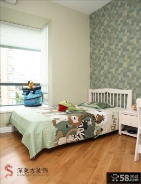 简约儿童卧室壁纸装修效果图