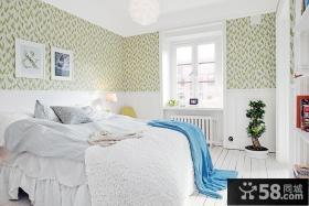 北欧风格卧室壁纸效果图