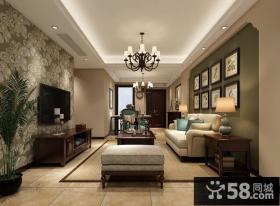 138平美式风格经典三居室装修设计效果图