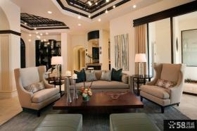 简约别墅客厅装饰效果图片