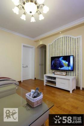 条纹壁纸电视背景墙装修效果图大全