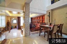 中式古典两室两厅玄关设计图片