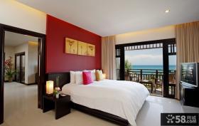 优质现代主卧室带阳台装修效果图