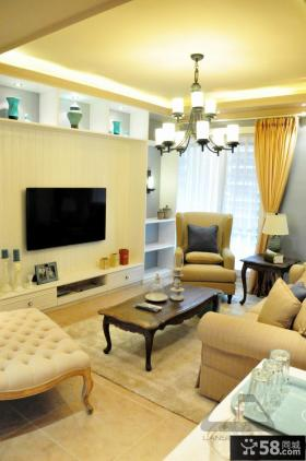 2013家装客厅电视背景墙装修效果图