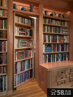 美式风格书房装修图