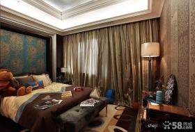 欧式新古典卧室装修效果图 卧室窗帘装修效果图
