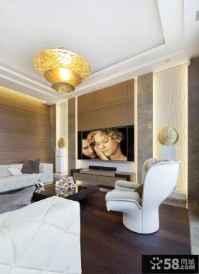 家装现代客厅吊顶图