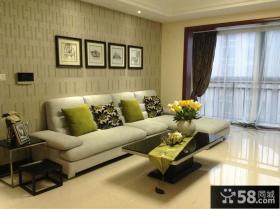 现代风格客厅壁纸装修效果图