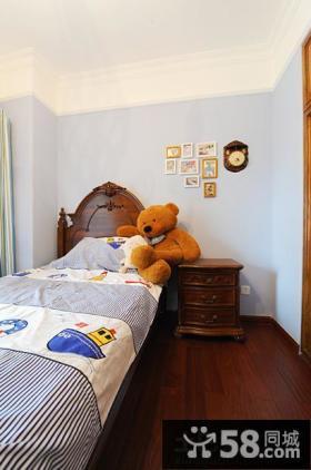 美式风格儿童房照片墙效果图