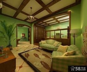 小户型美式乡村客厅装修效果图大全2014图片