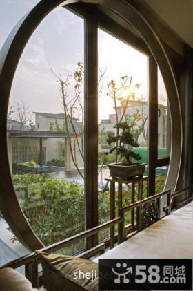 中式阳台装修效果图大全2013图片