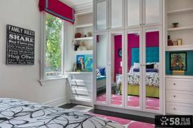 卧室整体衣柜玻璃门效果图