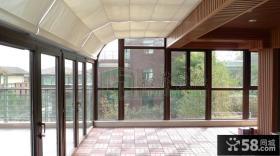 顶楼露台阳光房遮阳棚效果图
