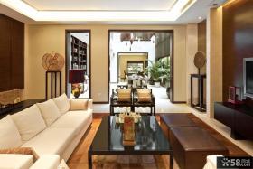 现代中式别墅客厅装修效果图欣赏