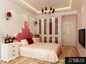 简欧风格三居婚房主卧室装修效果图
