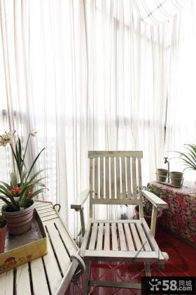 休闲阳台躺椅图片