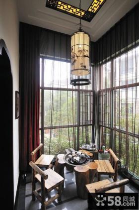 休闲中式阳台设计装潢