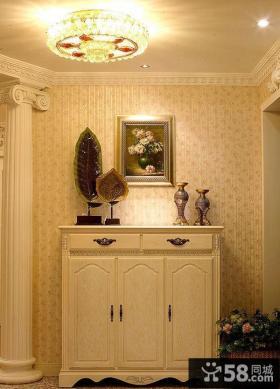 欧式风格玄关鞋柜效果图片