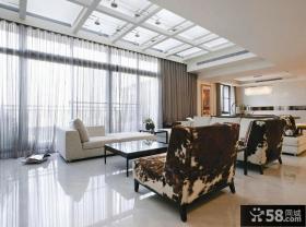 家居装饰客厅窗帘效果图