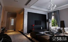 中国豪华别墅小客厅装修设计图