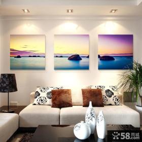 现代简约客厅抽象装饰画