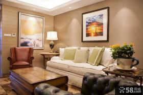 时尚美式小客厅图片欣赏