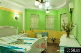 美式乡村风格70平米小户型卧室装修效果图