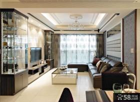 现代风格小客厅装修效果图大全2014图片