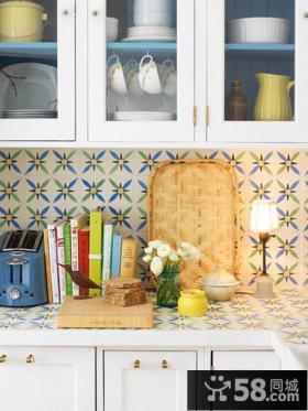 小户型北欧小清新厨房橱柜装修效果图大全2014图片