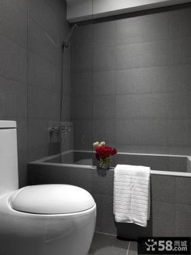 简约风格一居室浴室装潢效果图