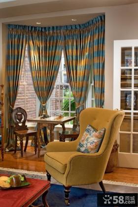 客厅窗帘图片 客厅阳台窗帘装修效果图