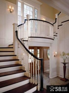 欧式别墅楼梯扶手设计效果图