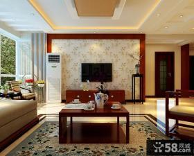 家装豪华时尚客厅电视背景墙设计效果图
