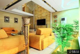 别墅客厅电视背景墙装修效果图欣赏