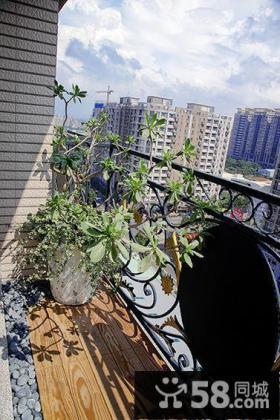 简欧式家居阳台装修案例