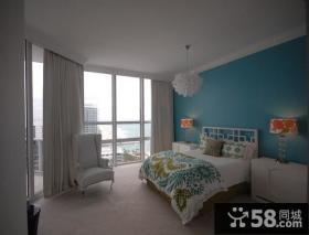 8万打造清新地中海风格小户型卧室装修效果图大全2014图片
