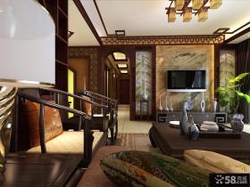 中式风格电视背景墙设计图
