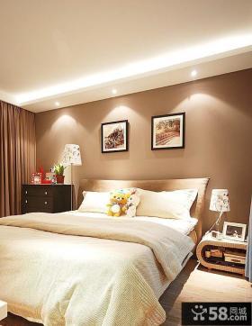 简约小户型卧室床头背景墙效果图