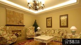 客厅欧式田园风格家具图片欣赏