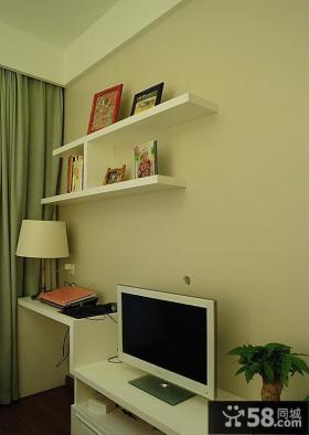 卧室墙面置物架装修图片