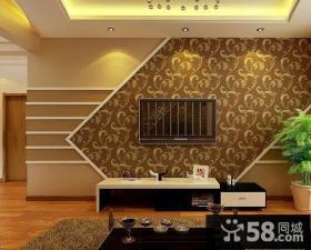 2014现代风格电视机背景墙墙纸